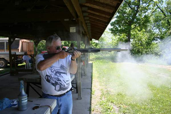 Shooting a black powder rifle